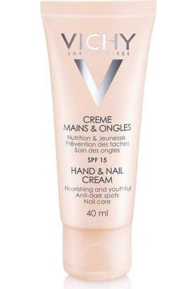 Vichy Hand & Nail Cream Spf15 40 Ml - Besleyici El Ve Tırnak Bakım Kremi