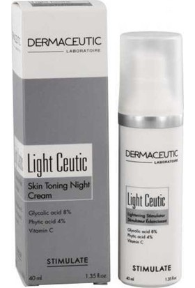 Dermaceutic Light Ceutic Renk Açıcı Gece Kremi 40 Ml