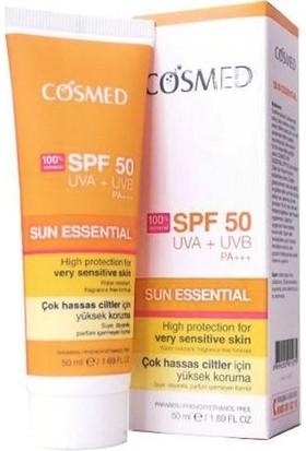 Cosmed Çok Hassas Ciltler İçin Güneş Kremi Spf50 50Ml