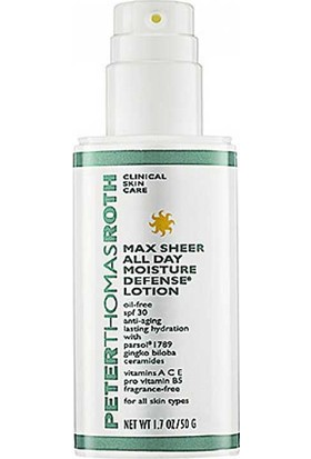 Peter Thomas Roth Max Sheer All Day Moisture Defense Lotion With Spf30 50Ml