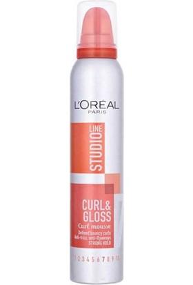 Loreal Paris Studio Line Silk&Gloss Curl Mousse Bukle Belirginleştirici Köpük 200Ml