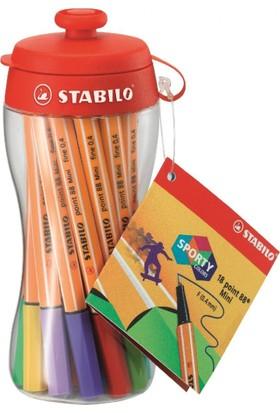 Stabilo Point 88 Mini Matara İnce Keçe Uçlu Kalem Seti 18 Renk 688/18-04