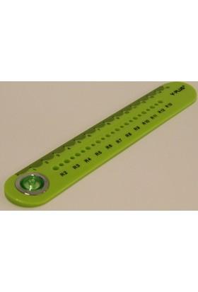 Y-Plus Circle 15Cm Yeşil Cetvel Rx1306/0