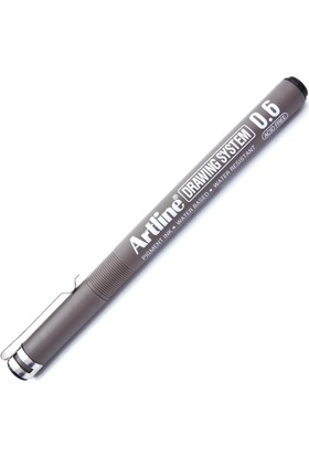 Artline Ek-236 0,6 Mm Siyah Teknik Çizim Kalemi