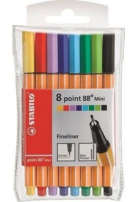 Stabilo Point 88 Mini Askılı 8 Renk 688/08-1
