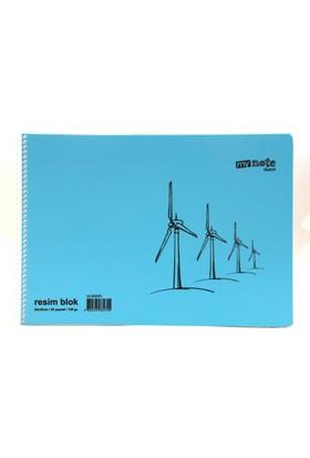 My Note Sketch Mavi 25X35 30 Yaprak Resim Defteri Uc30020