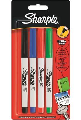 Sharpie Ultra Fine Standart Renk Markör Kalem 4Lü Paket