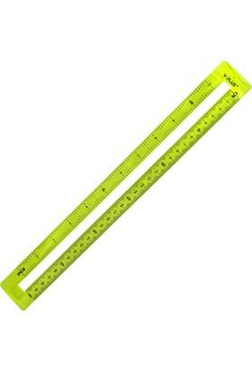 Y-Plus Mid 30 Cm Sarı Cetvel Rx1305