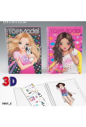 Top Model 3D Büyük Boy Boyama Kitabı Dk07857-1 Pembe