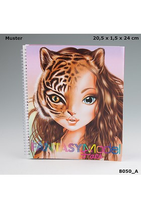 Top Model Fantasy Yüz Boyama Kitabı Dk08050