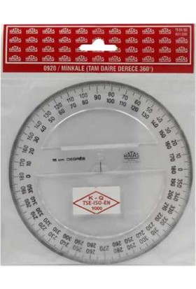Hatas Plastik Minkale Tam Daire Grad (400 G) 0940