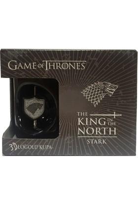 Game Of Thrones 3D Stark Logolu Siyah Kupa Got311