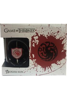 Game Of Thrones 3D Logolu Siyah Kupa - Targaryen Got312