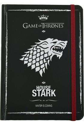 Game Of Thrones Defter 12X16 Cm Sert Kapaklı Lastikli 120 Yaprak Stark Got213