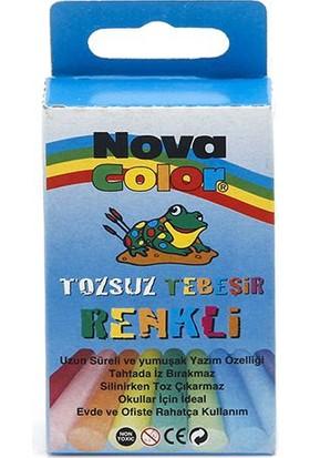 Nova Color Nova Color Tozsuz Tebeşir 10'Lu Renkli