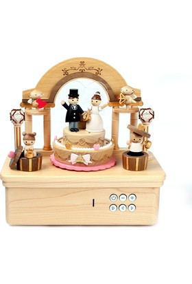 Wooderful Life Müzik Kutusu Düğün Pastası 1643709