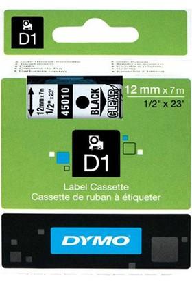 Dymo D1 Yedek Şerit 12 Mm X 7 M Renk - Seffaf/Siyah