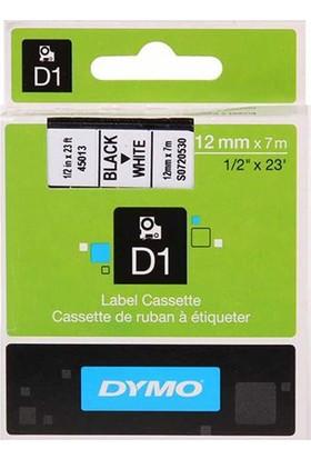 Dymo D1 Yedek Serit 12 Mm X 7 M Renk - Beyaz/Siyah