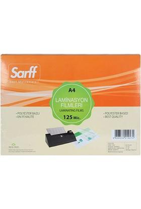 Sarff Laminasyon Filmi 125 Micron A4 100'Lü Kutu
