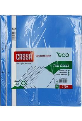 Cassa Telli Dosya Ekonomik 50'Li Paket (7730) Renk - Mavi