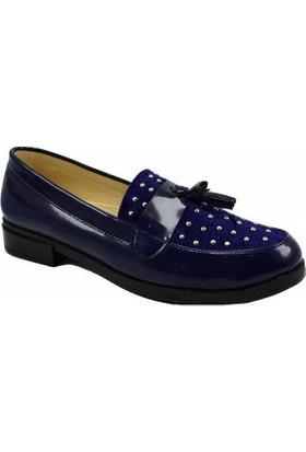 Altın Ökçe Bayan Püsküllü Ayakkabı