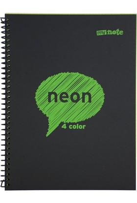 Mynote Neon 4 Color 80 Yaprak A4 Çizgili Defter Myn1080Ç