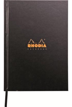 Rhodia Sert Kapak Kareli Defter Siyah A5 148X210