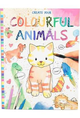 Top Model Renkli Hayvanlar Boyama Kitabı 8916