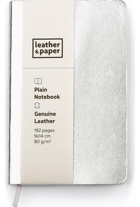 Leather & Paper 9X14 Gümüş Deri Defter