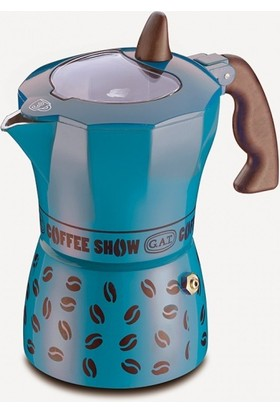 Gat Coffee Show Espresso Makinası 6 Kişilik Mavi