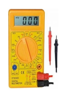 Haoyue Dıgıtal Ölçü Aleti Multimeter Dt 830D