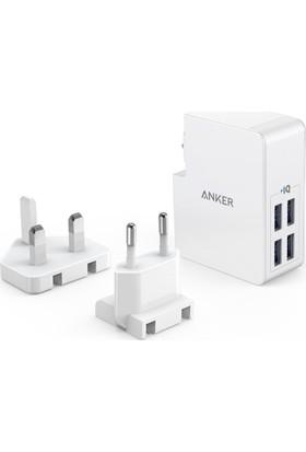 Anker PowerPort 4 Lite 4 Portlu Şarj Cihazı Beyaz