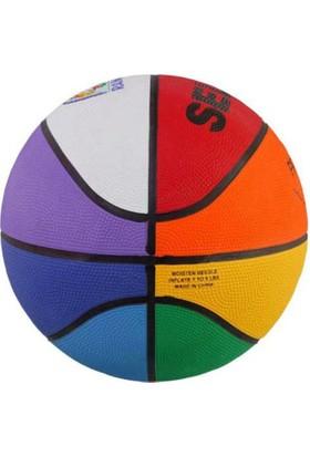 Selex Rb-5 Rainbow Renkli Kauçuk Basketbol Topu