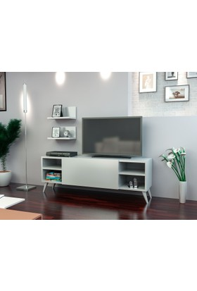 EvModüler Trend Tv Ünitesi 00201-01 Beyaz Beyaz
