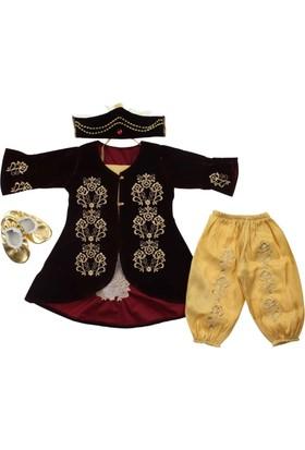 Modakids Kız Bebek Kadife Bindallı Set 035-208857-007