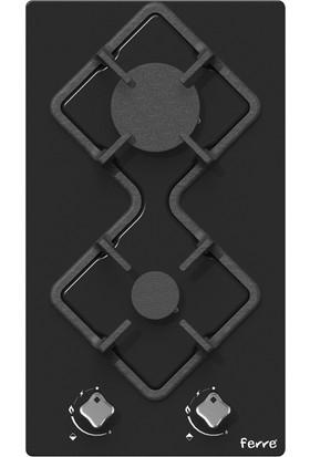 Ferre KA005 Karad 2'li Setüstü Siyah Cam Ocak