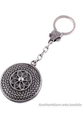 Akyüz Gümüş Kişiye Özel İsimli Telkari Gümüş Anahtarlık Anh031