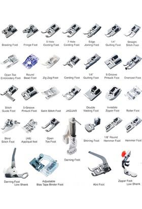 İşkur Makine Ev Tipi Aile Dikiş Makinası 32 Parça Ayak Seti
