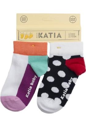 Katia 2'li Bebek Çorap Lacivert