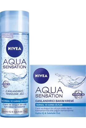 Nivea Aqua Sensation Gündüz Kremi 50 Ml + Nivea Aqua Sensation Yıkama Jeli 200 Ml