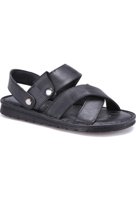 Flexall 109 M 1626 Siyah Erkek Sandalet