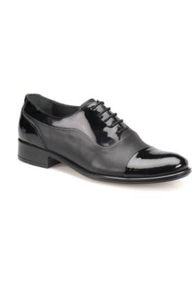 Garamond 409 Siyah Erkek Deri Ayakkabı