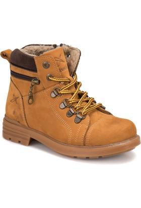 Kinetix Kardano Sarı Erkek Çocuk Deri Ayakkabı