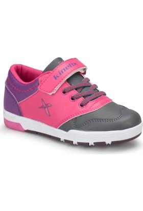 Kinetix Rames Pu Gri Pembe Açık Mor Kız Çocuk Ayakkabı