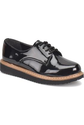 Miss F N1622 Siyah Kadın Maskulen Ayakkabı