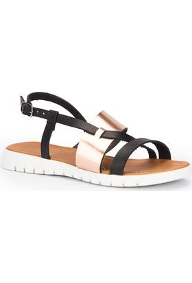 Polaris 71.310136.Z Siyah Kadın Sandalet