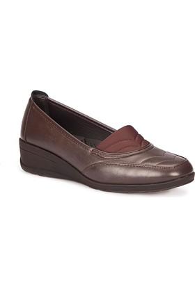 Polaris 72.158046.Z Kahverengi Kadın Anne Ayakkabısı