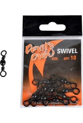 Shakespeare Devils Own Barrel Swıvel Black 10(10Pcs)