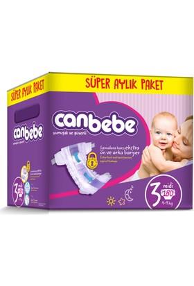 Canbebe Bebek Bezi Online Özel Paket 3 Beden 180 Adet