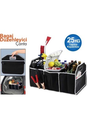 Pratik 3 Bölmeli Katlanabilir Araç Bagaj Organizeri